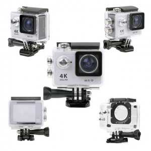 Vízálló akciókamera sportkamera 170° 4K Ultra HD 30m