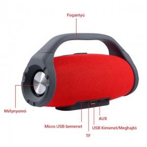 Vezeték Nélküli Bluetooth Hangszóró Power Bank TF USB FM AUX BS-218
