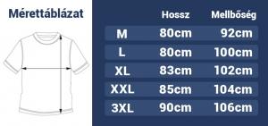 Férfi hosszított póló 3D felirattal DP28