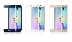 Samsung S6 Edge törésálló kijelzővédő üvegfólia Glass 0.26 mm 9H négy színben