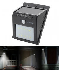 Fali szolár napelemes LED lámpa mozgásérzékelővel