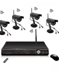 Vezeték Nélküli Biztonsági Kamera Rendszer 4 Kamerás CCTV