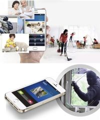 Wifis Videó Kaputelefon Okoscsengő Kültéri Okostelefonról Vezérelhető 720p