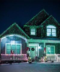 Karácsonyi kerti lézer világítás