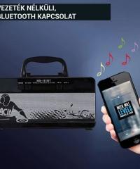 Bluetooth hordozható multimédia lejátszó MP3 USB FM rádió TF MS-181BT