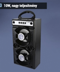 Bluetooth hordozható multimédia lejátszó MP3 USB FM rádió TF MS-160BT