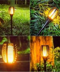 Napelemes kerti fáklya solar lámpa 80cm
