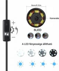 Wifi endoszkóp kamera LED világítással 5M