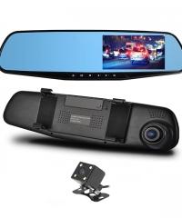 Visszapillantó tükörbe épített DVR eseményrögzítő és tolató kamera