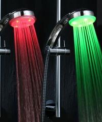 Színváltós LED Zuhanyfej  Zuhany