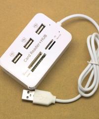 Kártyaolvasó USB elosztó 2az 1-ben