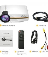LED Projektor USB / AV / HDMI / VGA