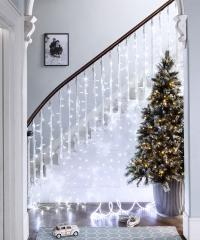 LED Fényfüggöny 2mx2m Hideg Fehér