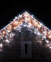 Jégcsap 180 LED Fényfüzér Hideg Fehér 6,6m