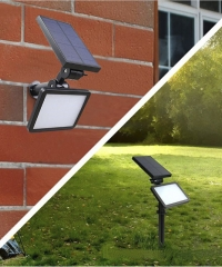 Napelemes LED lámpa szenzoros kerti és fali